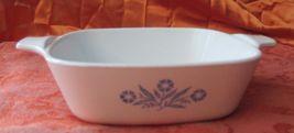Vintage Corning Ware Blue Cornflower Mini Casserole Dishes Set of 2 p-41-b - $9.99