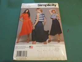 Simplicity S0916 Size USA R5 14-22 Misses Top With Length Variations - $15.99
