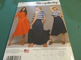 Simplicity S0916 Size USA H5 6-14 Misses Top With Length Variations - $15.99