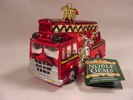 Kurt Adler C4492 Fire Truck Engine Glass Christmas Ornament New - $15.99