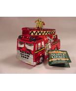 Kurt Adler C4492 Fire Truck Engine Glass Christmas Ornament New - $15.99