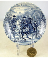 Staffordshire Liberty Blue Historic Colonial Sc... - $10.00