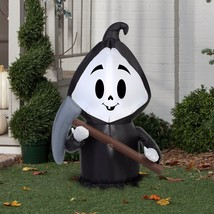 Halloween Airblown Inflatable Reaper Scary Party Decor Gemmy Outdoor Dec... - $24.74