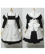 Black/navy blue Butler Mey-rin Maid Costume Cosplay Clothing Costume-made - £33.38 GBP