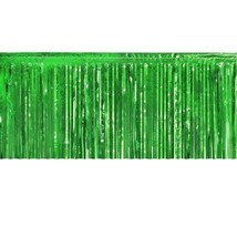 """Metallic green Fringed table skirt Party decor 29"""" x 14 ft - $9.84"""