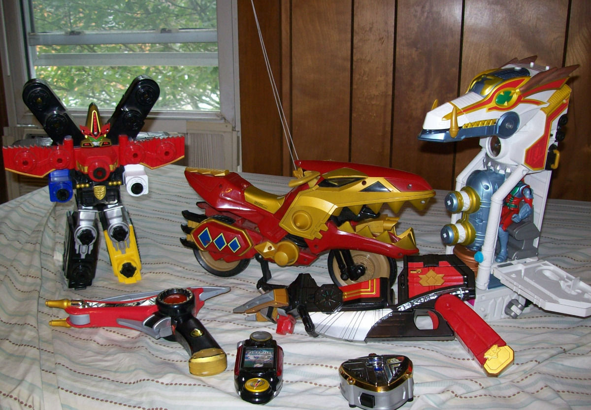 Power Rangers Bandai Lot of 7 Bullzooka Motorcycle Morpher Overdrive Tracker...
