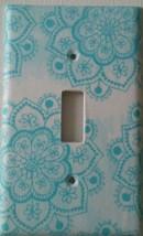 BLUE LOTUS FLOWER Light Switch Cover home wall decor bathroom kitchen li... - $7.75