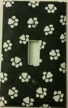 Paw Print Light Switch Cover home wall decor lighting outlets dogs cats ... - $7.75