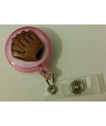 Right Baseball Mitt badge reel key ID card holder lanyard retractable sp... - $8.99