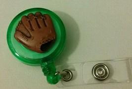 Right Baseball Mitt badge reel key ID card holder lanyard retractable sp... - $8.78