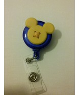Mickey Mouse badge reel key card ID holder lanyard retractable Disney sc... - $5.95