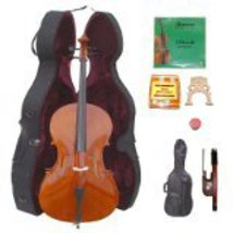 Lucky Gifts 1/2 Size Student Cello,Hard Case,Soft Bag,Bow,Strings,Tuner,2Bridges - $265.20