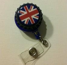 British Flag badge reel key ID card holder lanyard retractable punk rock... - $9.44