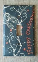 Happy Owloween Owl Light Switch Cover outlet home decor Halloween seasonal  - $7.94
