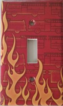 Fire Truck Light Switch Cover outlet wall home kids room  firefighter fi... - $7.65