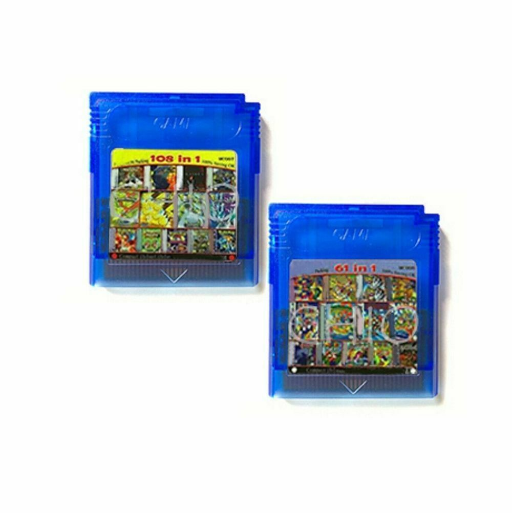 Game Boy Color Multi Cart 108 in 1 or 61 in 1 Games Cartridge GBC 16bit Gameboy