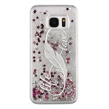 Galaxy S7 Liquid Case,Colored Drawing Dandelion Angel Girl Print Floatin... - $9.78