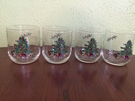 "Vintage Set of  4 Tienshan Holiday Hostess 4"" T... - $9.49"
