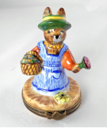 Limoges Box - Gardening Bunny Rabbit with Baske... - $95.00