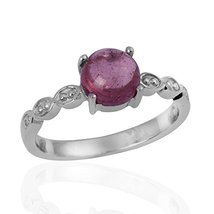 Stylish Women Silver Ring with Pink Tourmaline Gemstone 925 Sterling Sil... - $17.92