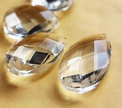 "50Pcs Lot Crystals Faceted Glass Prisms For Chandelier Lam Part 1.5"" Pen... - $35.44"