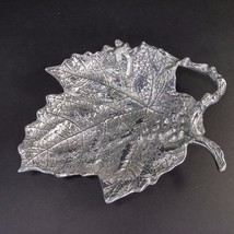 NEW Mariposa Grape Leaf Sauce Dish Candy Server Sandcast Recycled Alumin... - $29.69