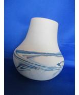 "5 "" Nemadji Hand Painted Blue, Brown.  Orange Vase - $12.99"