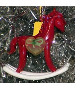 Red Rocking Horse - 1982 Glass Christmas Ornament - $8.99