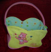 Care Bears Plush Easter Basket Spring Basket flower shaped - $10.00