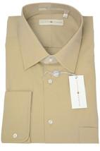 NWT Joseph Abboud Beige Fine Silk/Cotton Button Front Dress Shirt Limon ... - €67,12 EUR