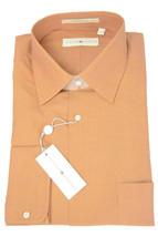 NWT Joseph Abboud Orange Fine Woven Cotton/Silk Button Front Dress Shirt... - €67,12 EUR