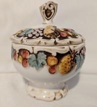Vintage Lefton Sugar Bowl Fruit Pattern Made In Japan - $12.19