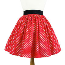 Dapper Day Minnie Mouse Red & White Polka Dot Pleated Lindy Retro Skirt - $39.95+