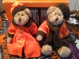 "Vintage 12"" Jointed Matching Pair Of Victorian Halloween Dressed Teddy B... - $22.99"