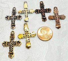 CROSS FINE PEWTER PENDANT CHARM UNITED STATES RELIGIOUS CHRISTIANITY image 3