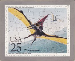 USPS POSTCARD - Dinosaurs Commemorative Puzzle series -PTERANODON -FREE ... - £7.32 GBP