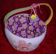 Care Bears Plush Easter Basket Spring Basket Star friend swings from handle - $12.00