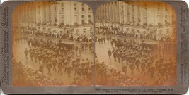 Stereoscope Viewer Slide Card Pres. McKinley's Remains passing US Treasu... - $3.95