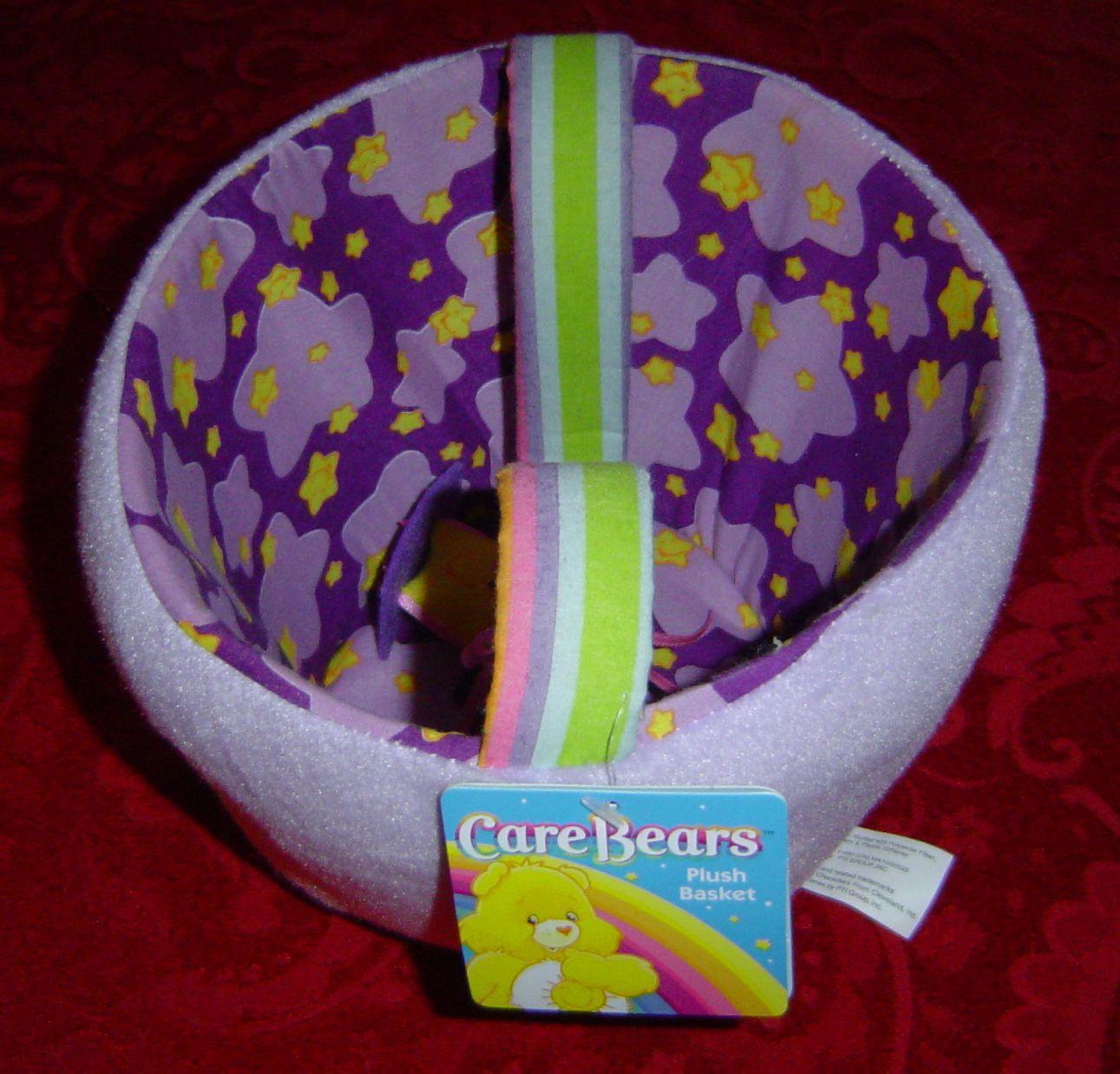 Care Bears Plush Easter Basket Spring Basket Star friend swings from handle