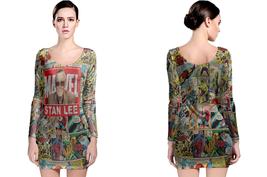 stan lee tribute Long Sleeve Bodycon Dress - $28.99+