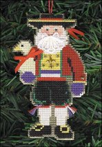 Pere Noel Olde Time Santa Ornament kit christmas perforated paper cross stitch - $5.40