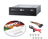 LG Internal 24x Super Multi with MDISC Support DVD Burner GH24NSC0B Bundle