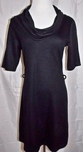 H & M Dress Black Cowl Neck A-Line Stretch Shor... - $23.73