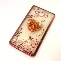 Galaxy J7 Case,Secret Garden Butterfly Floral Bling Swarovski Rhinestone... - $9.89