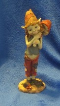 "Pixie Elf Gnome Carrying Mushroom 8"" Tall - $21.77"