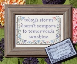 Today's Storm cross stitch chart My Big Toe Designs - $8.00