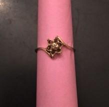10k Solid Gold Ring For Repair Or Scrap 1.8 Grams Missing Accent Stones ... - $46.61