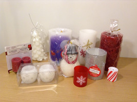 Big Lot Winter Christmas Home Flameless Led Real Wax Candles - Holiday Decor