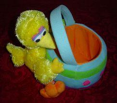 Big Bird Sesame Street Plush Easter Basket Spring Basket  - $12.00