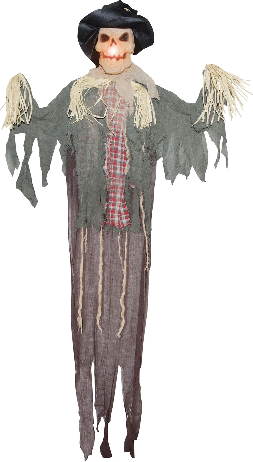 Hanging Scarecrow 6 Ft Halloween Prop Haunted House Lightup Yard Decor Display
